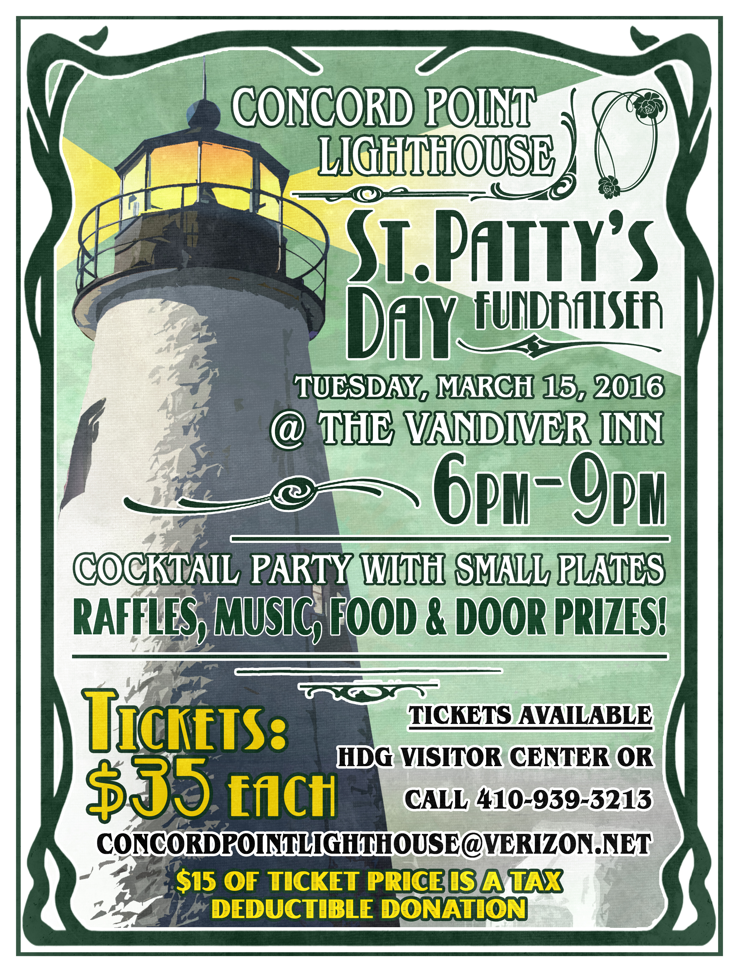 Concord Pt Lighthouse 2016 St Pattys Day Flyer